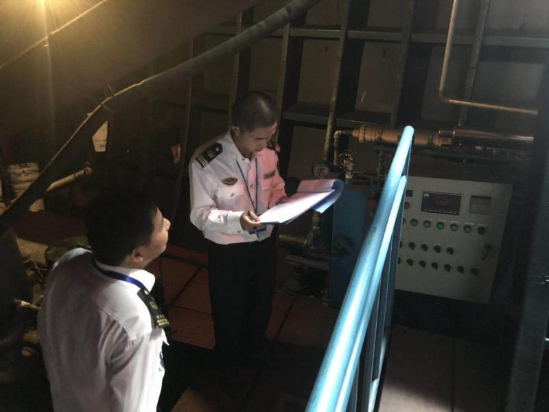 省海事局船舶生活污水专项督查行动在邳州