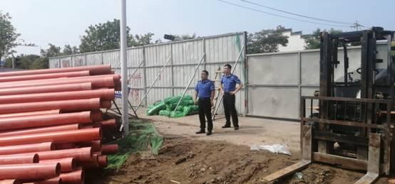 沛县城管局加强市政施工道路扬尘管理