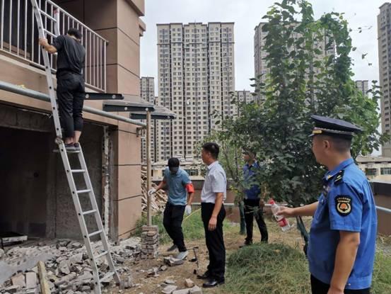 沛县城管局物业监察大队 积极开展新上房小区控违工
