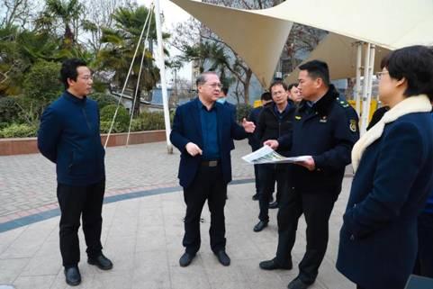云龙区委书记朱明泉调研立体绿化和乡村绿化工作