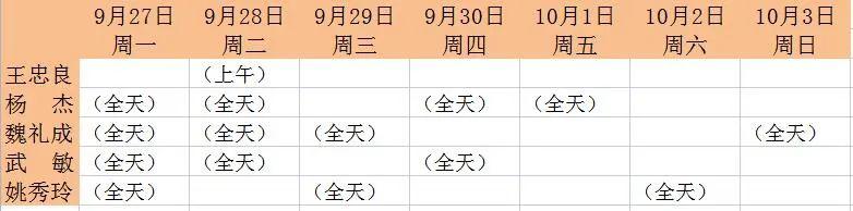 【坐诊通知】9月27日-10月3日中医专家坐诊时间表